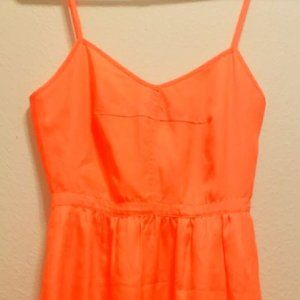 J.Crew Nearly Neon Gorgeous Orange Dress w/Pockets